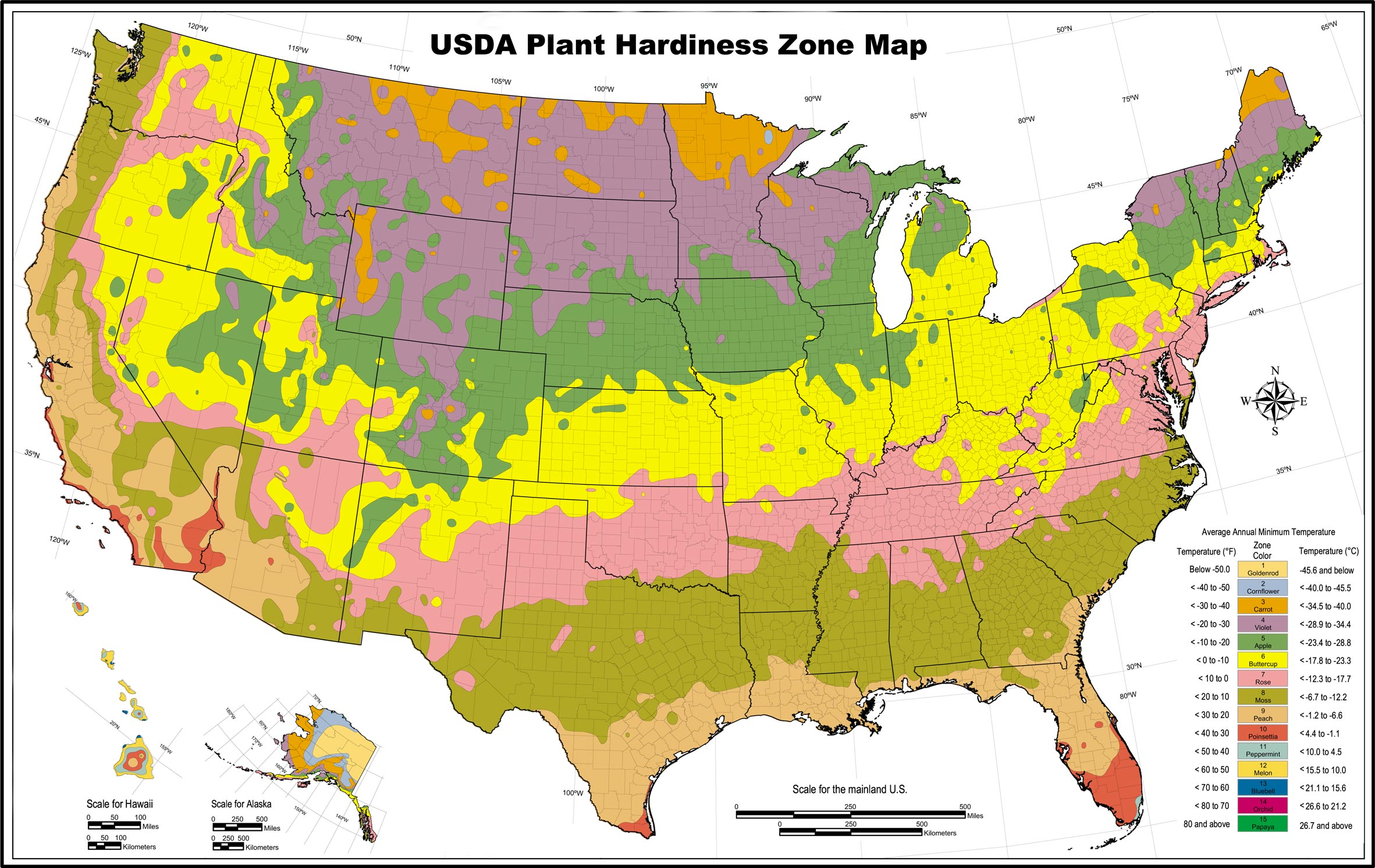 Plant Hardiness And Climate Zones Pro Landscaping - Us map climate zones